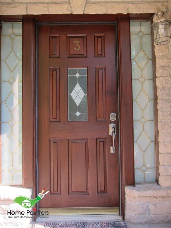 After Staining Front Door Markham Richmond Hill
