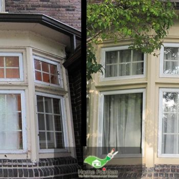 Exterior Windows Re Caulking Repair Painting Before After Photo Richmond Hill